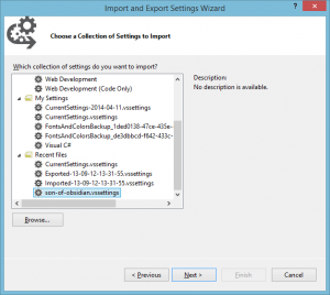 "Abb. 1.: Der Visual Studio-Style ""Son of Obsidian""."